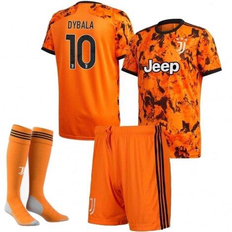 Детская форма Ювентус резервная номер 10 Дибала сезон 2020-2021 (футболка + шорты)